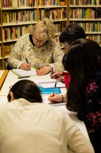 Atelier d'écriture lors du Mois du polar 2015